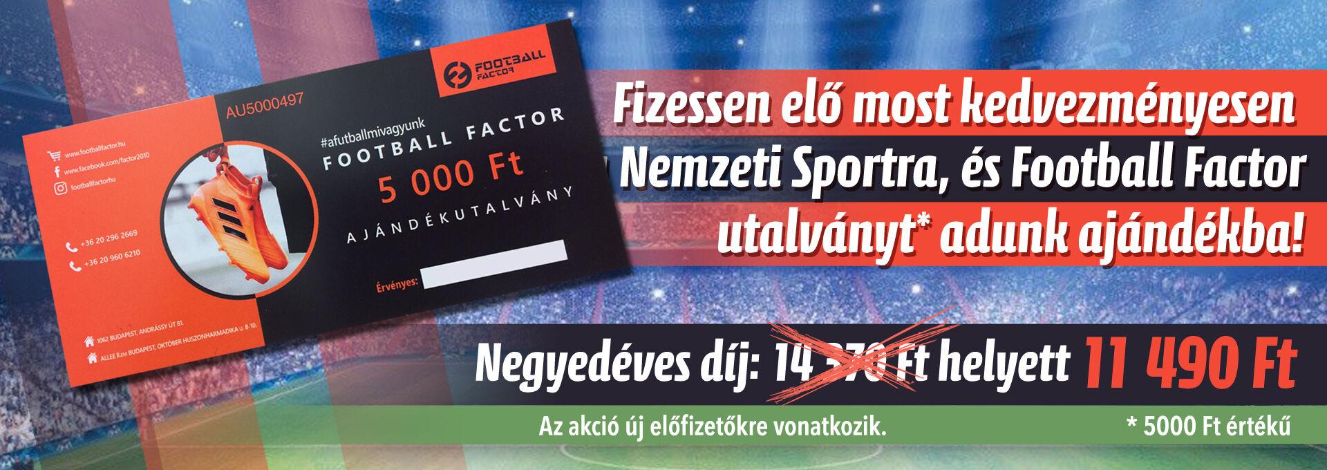Nemzeti Sport + Football Factor utalvány